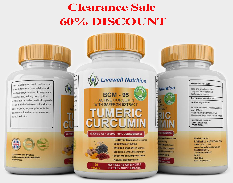 Bcm 95 Turmeric Curcuma Longa Root Powder Saffron Extract